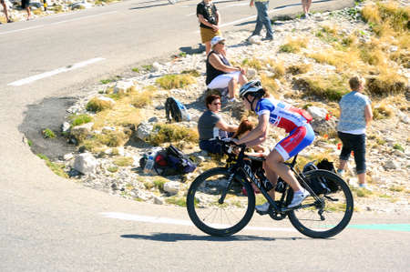 Many cyclist climb Mont Ventoux as a challenge up to 1912 meters with a coast 10%