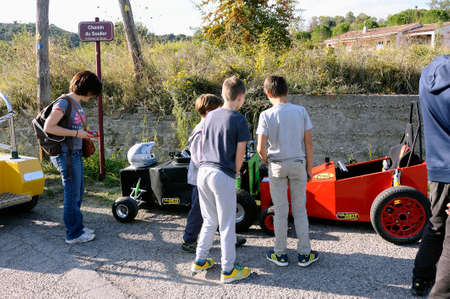 wacky: soapbox race organized in the village of Tornac located in the French department of Gard. Editorial