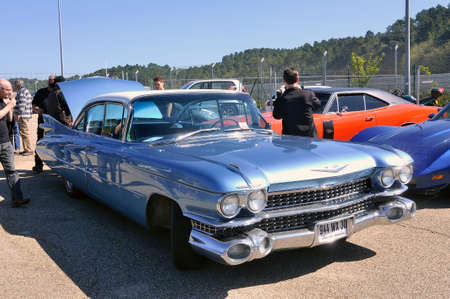 American car gathering at the mechanical pole of the town of Ales in the French department of Gard, Cadillac Eldorado
