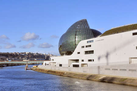 The Seine Musical is a set of buildings devoted to music and forming a vessel Редакционное