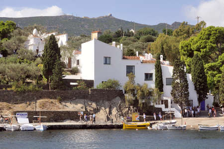House of Salvador Dali in Cadaques in Catalonia, great painter Spanish surealist Archivio Fotografico - 112290927