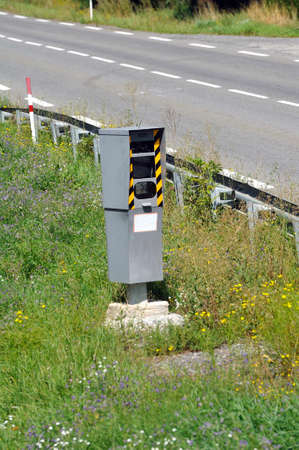 Road radar measuring the speed of vehicles and photographing those who exceed the speed limit to verbalize them