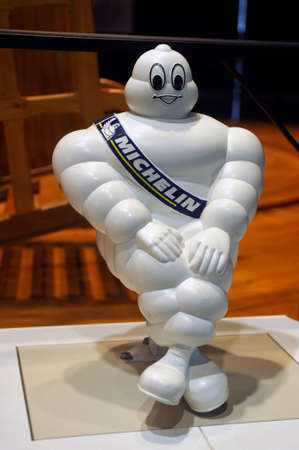 The Michelin bibendum that was mounted on the top of the windshield of the breakdown trucks Redactioneel