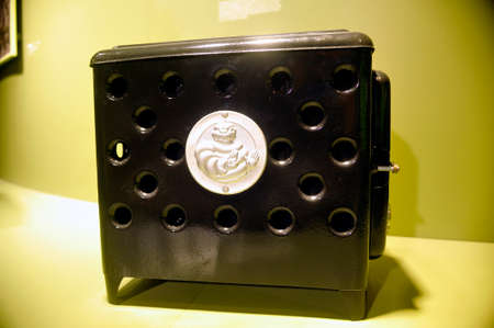 Heater exposed at the Michelin Museum in Clermont-Ferrand created to give work to the factory worker during the war