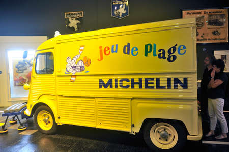 Michelin advertising truck that was reserved for animation for children in summer on the beaches