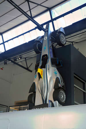 Formula 1 electric with Michelin tires on display in the hall of the brand museum Redactioneel