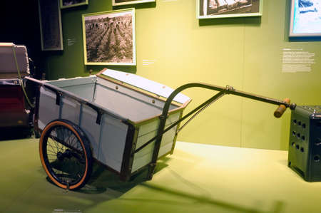 cart displayed at the Michelin Museum in Clermont-Ferrand created to give work to the factory worker during the war