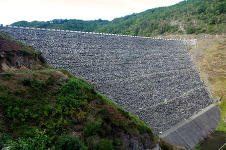 General view of a hydroelectric dam in Auvergne