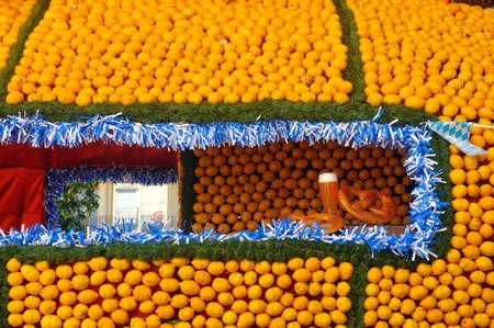 Bioves gardens in Menton during the lemon festival in February 2020.