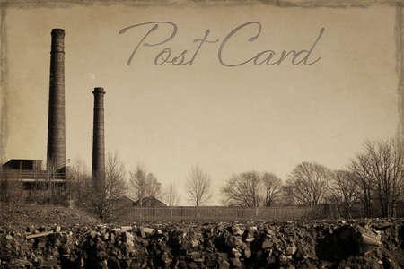 lancashire: Old style Lancashire Mill Postcard