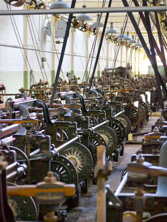 industrial machinery: Lancashire Cotton Mill industrial weaving machines