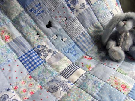 Babies patchwork quilt Stok Fotoğraf