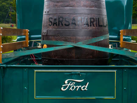 1930s Ford Pick up truck delivering sarasparilla