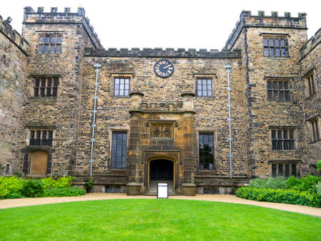 burnley: The main entrance of Towneley Hall Burnley Editorial