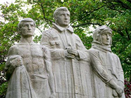 burnley: Towneley Park Burnley war memorial stone cenotaph built 1926