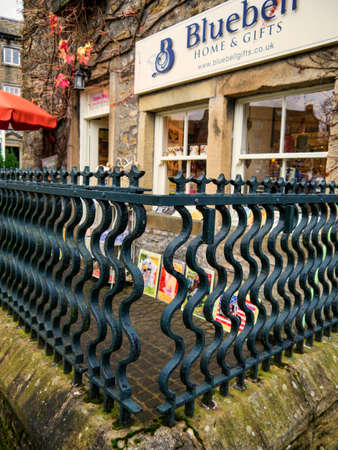 wharfedale: Bluebell gift shop in historic Grassington Yorkshire Editorial