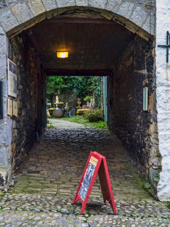 wharfedale: Archway to the Pottery shop Grassington Yorkshire Editorial
