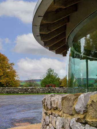 wharfedale: Glass shelter in the car park of Grassington Yorkshire