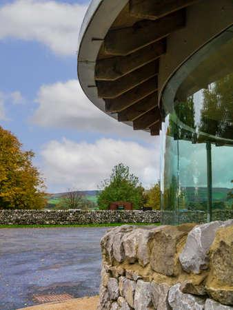 wharfedale: Refugio de cristal en el aparcamiento de Grassington Yorkshire