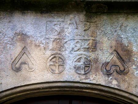 wharfedale: Casa Iglesia Grassington calle principal Yorkshire fechado 1694 Editorial