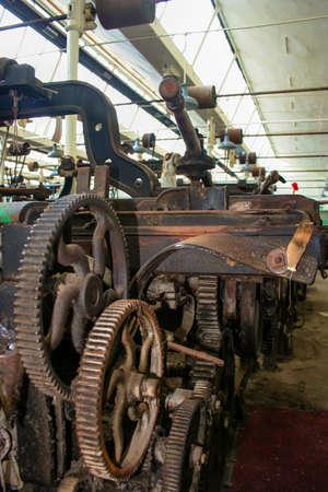lancashire: Lancashire cotton weaving mill Editorial