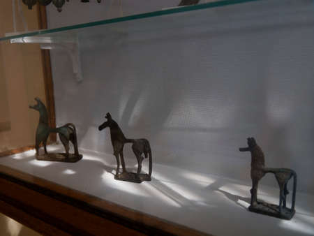 polis: Archaeological artifacts at the Museum in Vathi on the Island of Ithaca in Greece Editorial
