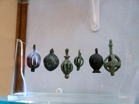 kefallonia: Archaeological artifacts at the Museum in Vathi on the Island of Ithaca in Greece Editorial