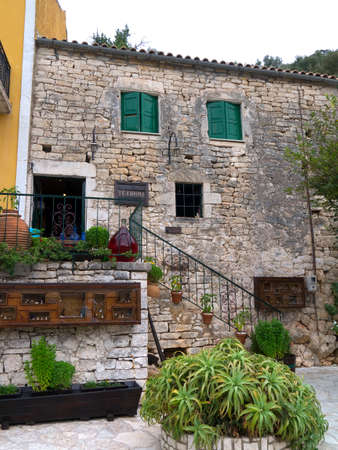 kefallonia: Authentic shop in the village of Kioni on the Island of Ithaca in Greece