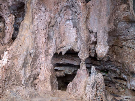drop ceiling: Stalagmites and Stalactities on the Island of Ithaca in Greece
