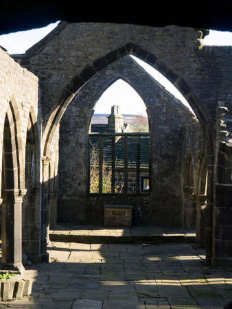 thomas: The original St. Thomas the Apostle Church in the village of Heptonstall, Yorkshire. Editorial