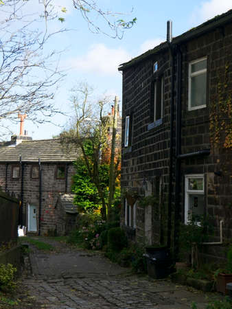 weavers: Weavers cottages in the village of Heptonstall in Yorkshire Editorial