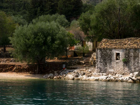 kefalonia: Discover hidden shores on the Island of Kefalonia in Greece Stock Photo