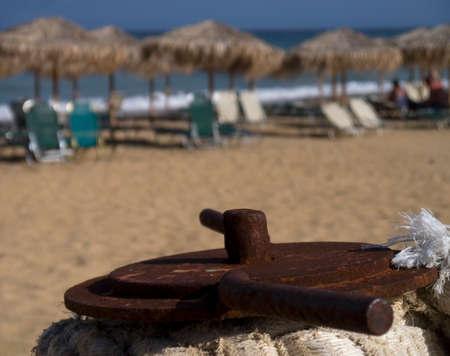 그리스의 Kefalonia 섬에있는 Skala 해변에서 담합 선박