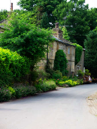 lancashire: The Pierson house in the historic village of Wycoller in Colne Lancashire