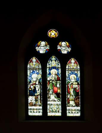 director de escuela: Este vitral en la iglesia de San Juan Keswick es un monumento a Thomas Highton director de la escuela dominical Brigham 1880-1907