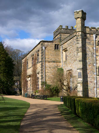 buttresses: The back of Towneley Hall in Burnley Lancashire