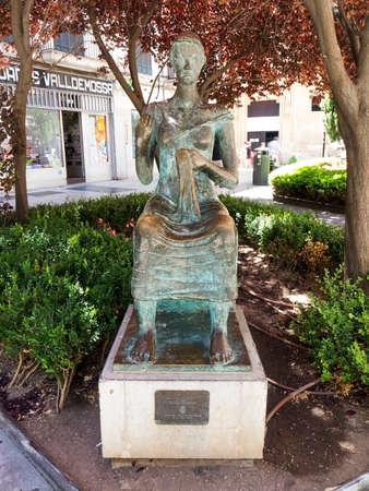 Dona Consint Pere Martinez statue in Palma Majorca Spain.