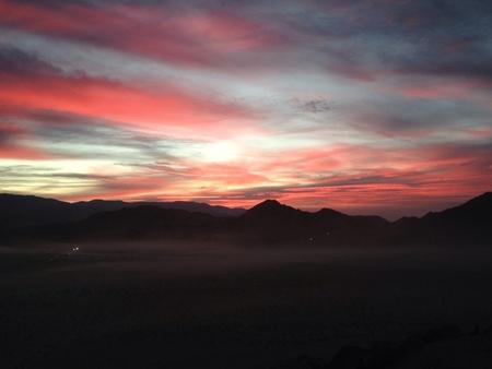 nevada desert: Sunset in the Nevada desert over hammer town
