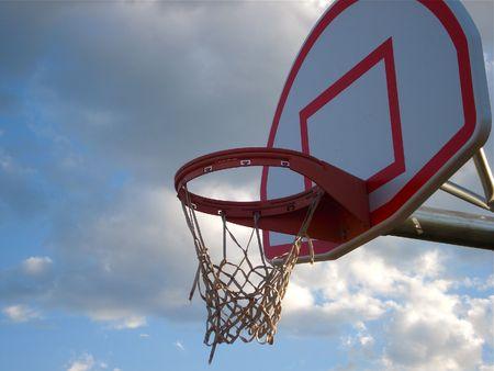 Basketball Goal among the Clouds