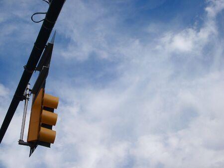 traffic signal: Blue Sky Traffic Signal