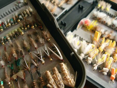 Two boxes of Fly Fishing Flies