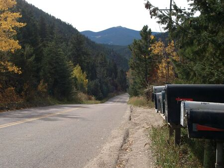 Mailboxes on an Old Road