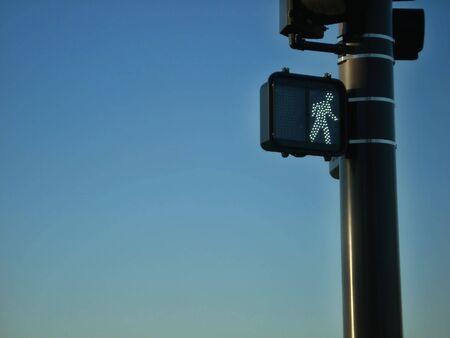 traffic signal: Walk Traffic Signal Banque d'images