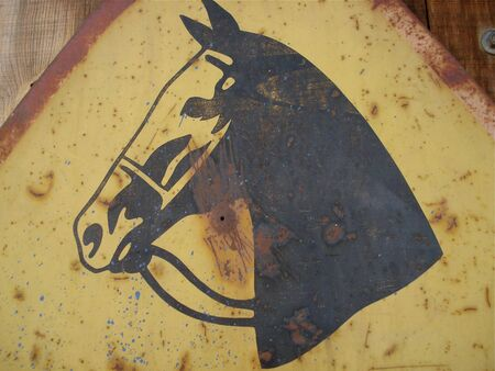 Old Metal Horse Sign Stock Photo - 3917093