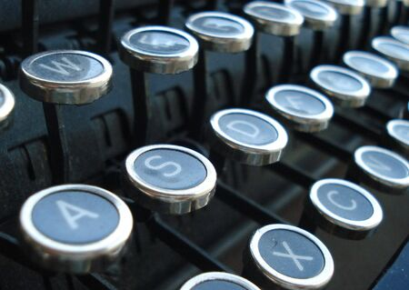 Little Round Typewriter Keys photo
