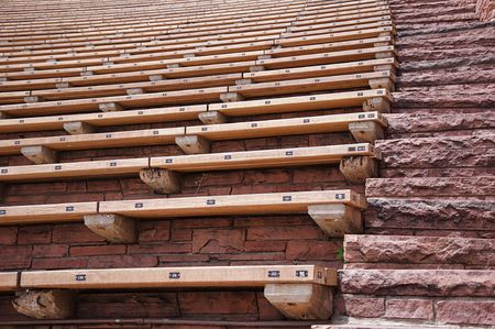 Stairs and Seats at Red Rocks Amphitheater Stock Photo