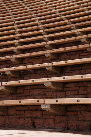 Pattern of Seating at Red Rocks Stock Photo - 5055016