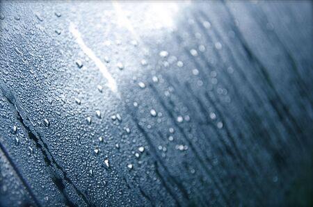 Dew on Windshield Stock Photo