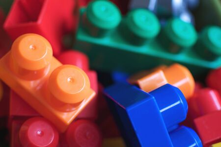Colorful Toy Building Blocks Background