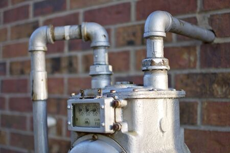 Water Meter Detail Stock Photo